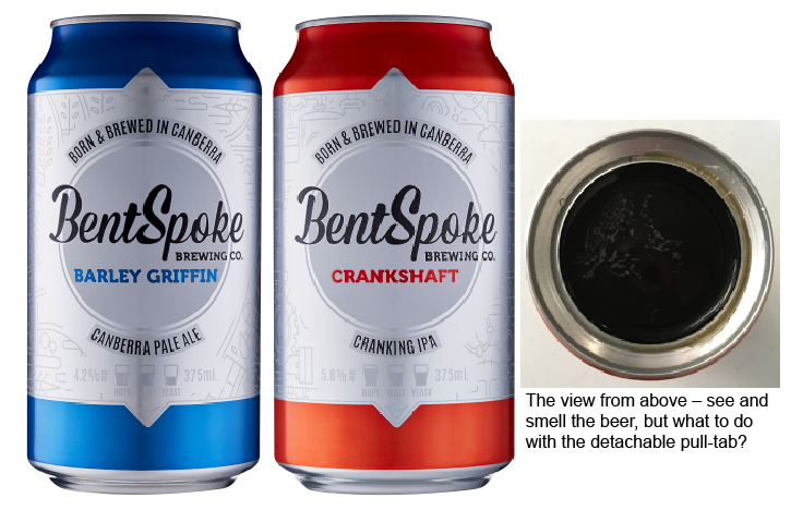 BentSpoke cans feature a removable pull-tab and wide opening