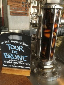BentSpoke brown ale infused with tangelos, chic-covered coffee beans and fresh Canberra truffles.