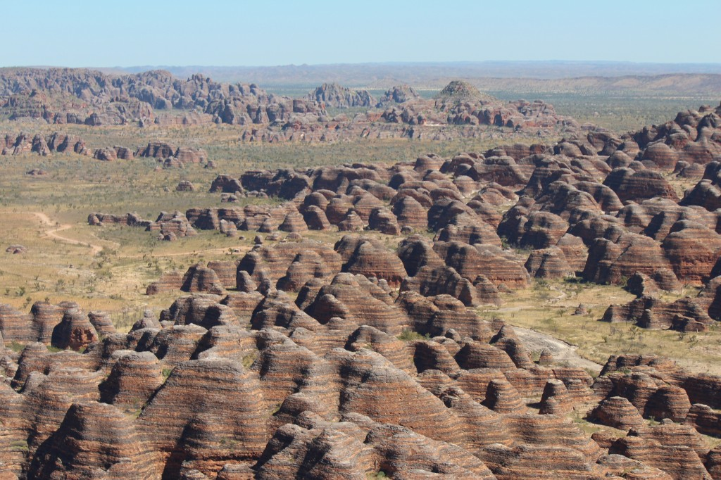 Bungle Bungles sandstone domes from the air. Photo Jill Shanahan
