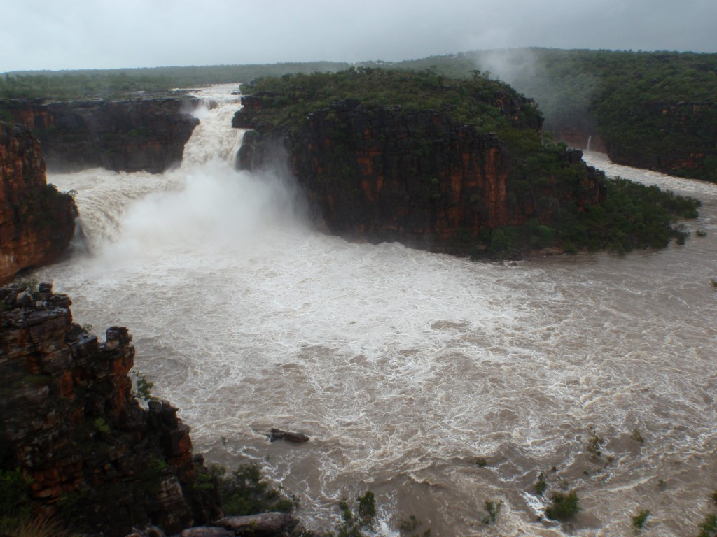 Mitchell Falls in the wet season. Photo Mitchell River National Park Ranger, John Hayward.