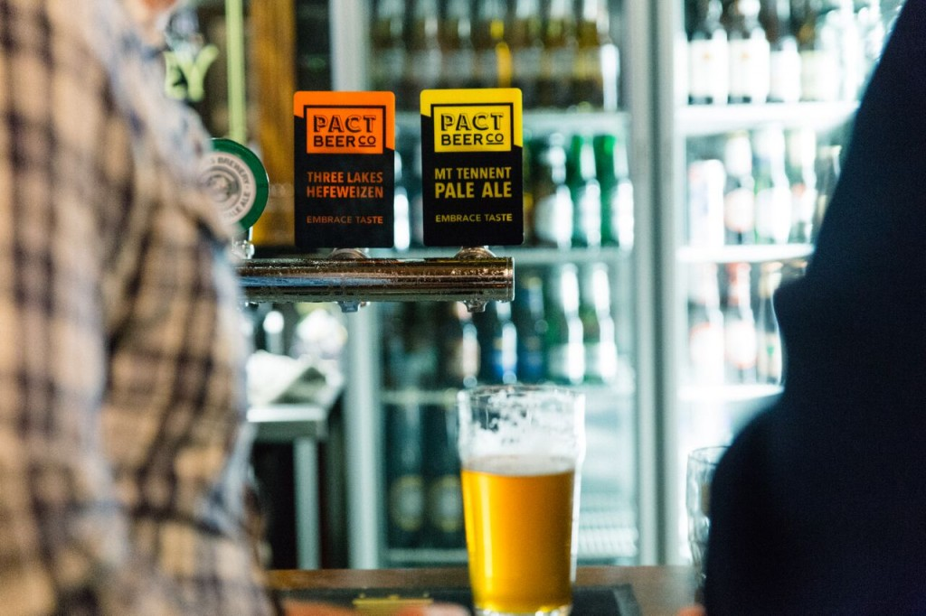 Pact beer on tap