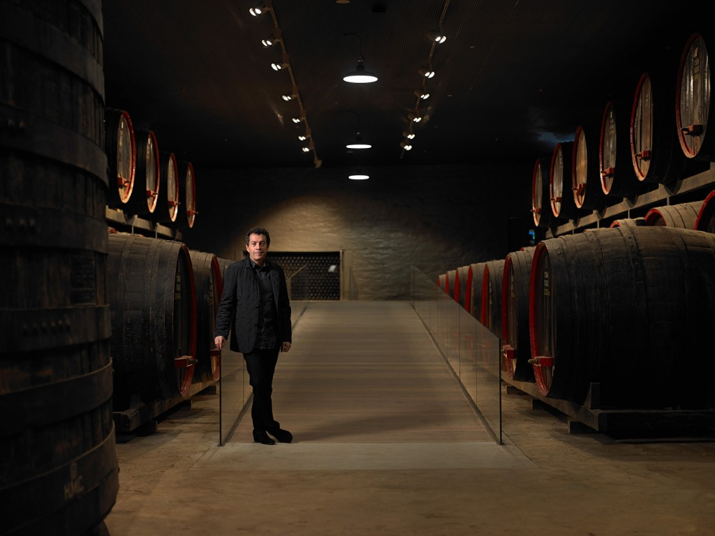 Winemaker Peter Gago in Penfolds Magill Cellars, Adelaide