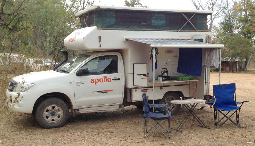 Our 'Hilux Hilton' camped at Ellenbrae Station, Gibb River Road. Photo Chris Shanahan.